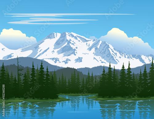 Canvas Prints Blue Mountain Beauty