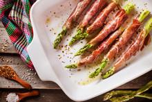 Prosciutto Wrapped Green Asparagus