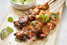Satay Chicken Skewers With Lim...