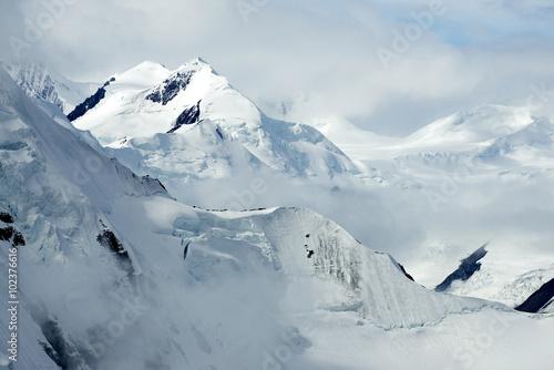 Snowy Mountain Peaks in Kluane National Park, Yukon