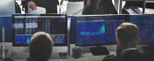 Fotografie, Obraz  Business Team Investment Entrepreneur Trading Concept