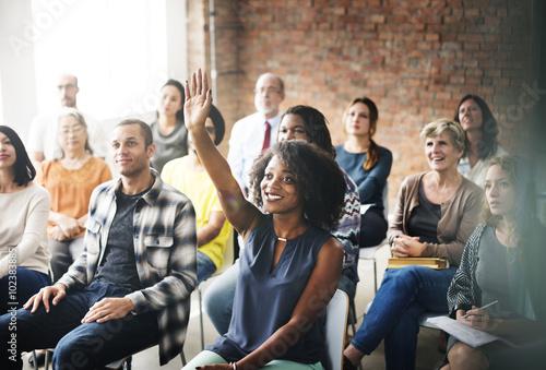Business Team Meeting Seminar Training Concept Obraz na płótnie