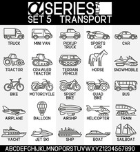 Line Design Icons-transport