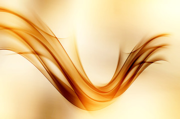 Amazing Light Background Gold Brown Wave Wings Abstract Design