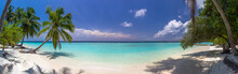 Beach Panorama At Maldives Wit...