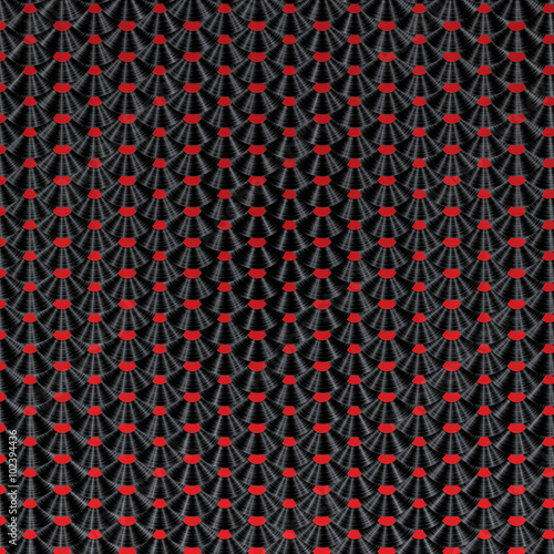Etiqueta engomada - Vinyl record pattern / 3D render of vinyl records arranged in scale pattern