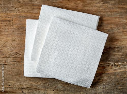 Fotografie, Obraz  White paper napkins