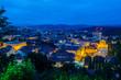 Aerial panoramic view of romantic medieval Ljubljana's city centre, the capital of Slovenia