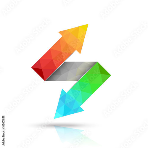 Two way arrows up and down directions consisting of triangles Canvas-taulu