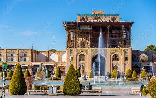 Ali Qapu Palace on Naqsh-e Jahan Square in Isfahan, Iran Canvas Print