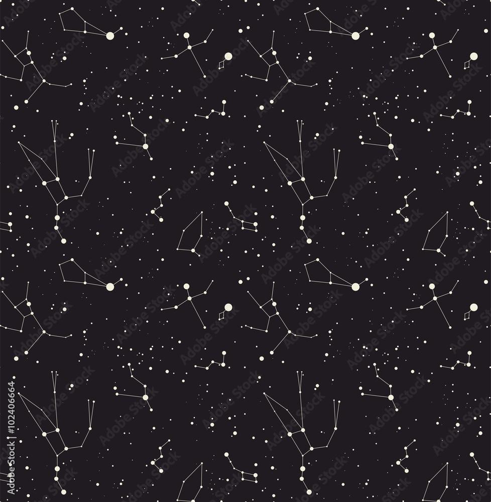 Fotografía Vector de la estrella de la constelación | Europosters.es