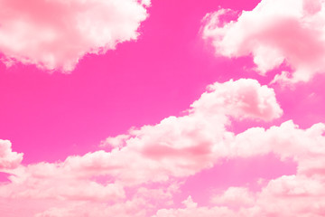 Beautiful sky with pink and clouds