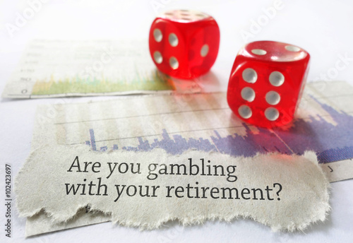 Retirement risk concept плакат
