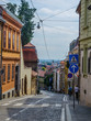 view of an old winding street situated in the medieval core of the croatian capital zagreb