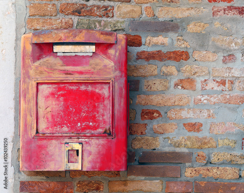 red mailbox where to mail letters and postcards - Buy this