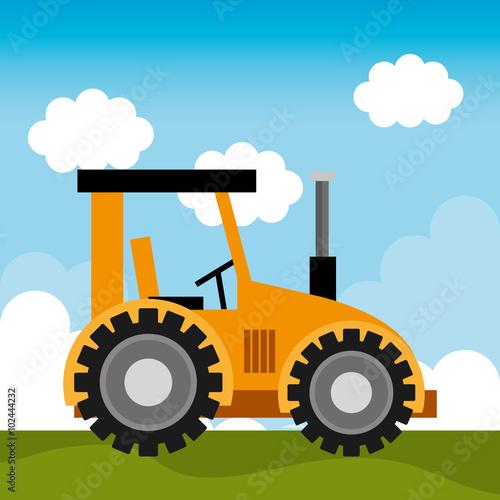Mit einem Traktor durch Felder