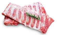 Raw  Pork Ribs With A Rosemary...