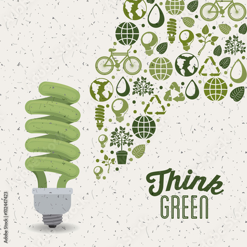 think green design Poster