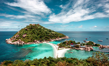 The View Of The Landscape On The Scenic Island Of Koh Tao . Paradise Beach .