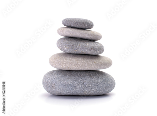Fotografie, Obraz  Spa stones isolated on white background