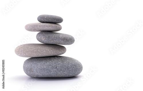 Doppelrollo mit Motiv - Spa stones isolated on white background