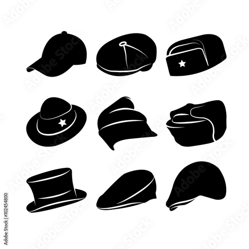 Photo Vector Collection of Vintage Hats