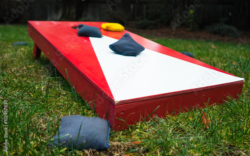 Cornhole Toss Game Board Close-up Fototapet