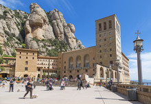 Montserrat Mountains With Monastery And Basilica.In Montserrat-B