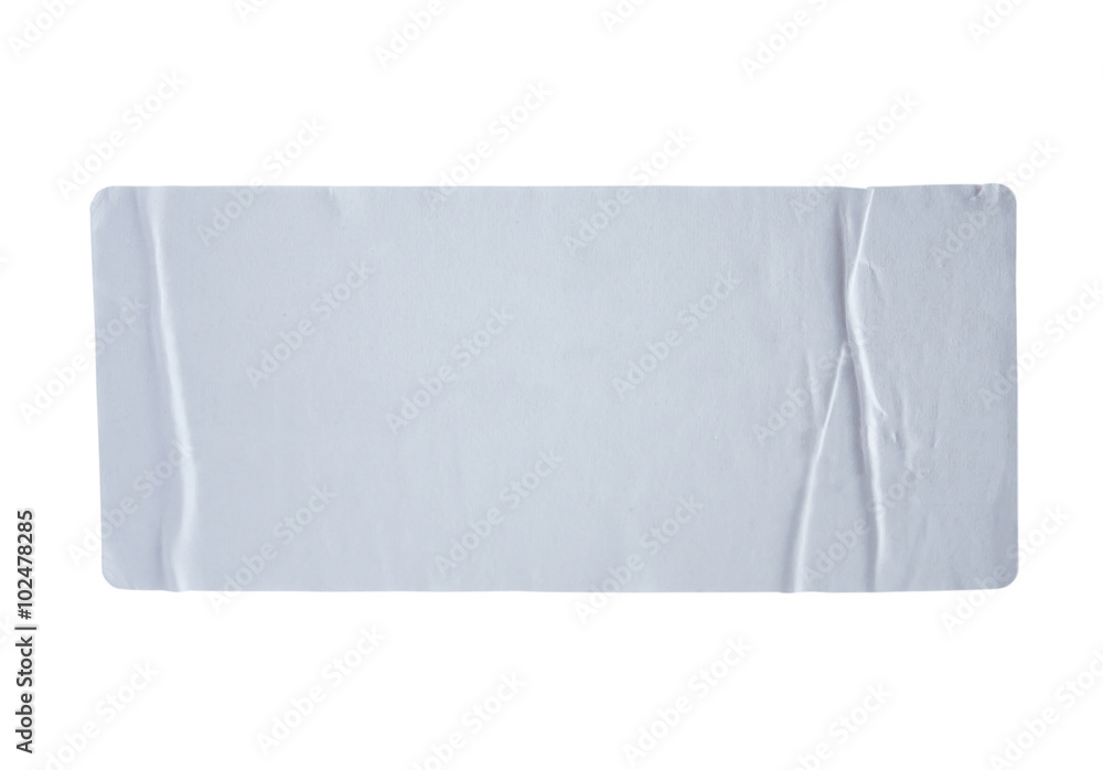 Fototapety, obrazy: Stickers label with clipping path isolated on white background