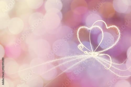 Fotobehang - heart shape with light shape