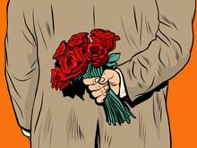 Flower Bouquet Roses Gift Surprise