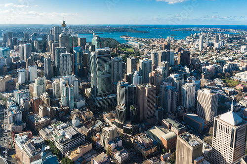 Photo  Sydney Central business district from the air