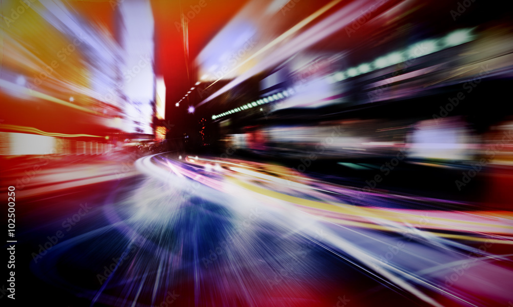 Fototapety, obrazy: abstract city lights
