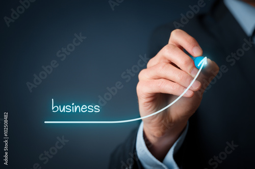 Accelerate business growth Wallpaper Mural
