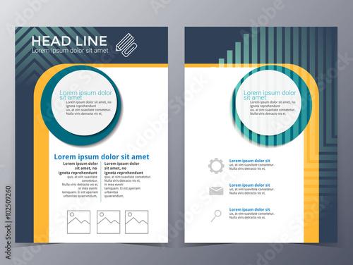 Fototapeta business and technology brochure design template vector obraz na płótnie