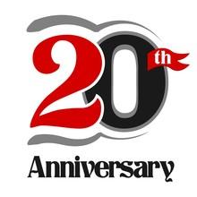 20th Anniversary Celebration Vector Logo Design