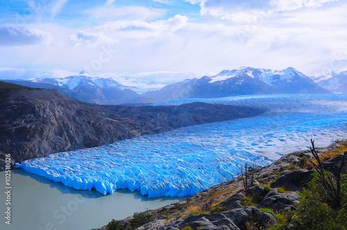 Printed kitchen splashbacks Glaciers Grey glacier. Torres del Paine National park.