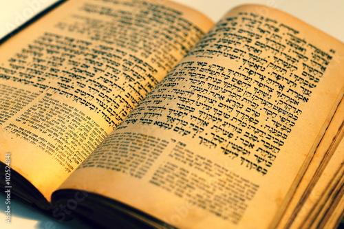 Fotografie, Obraz nice old jewish book