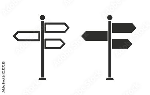 Fotografía  Signpost - vector icon.