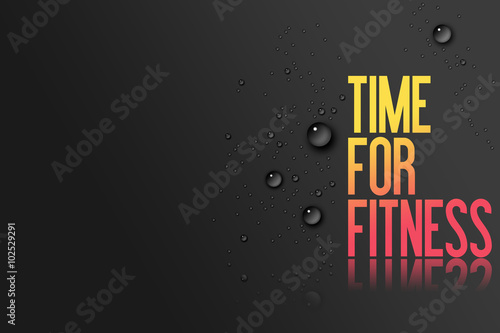 yellow red text on black background template for fitness centre