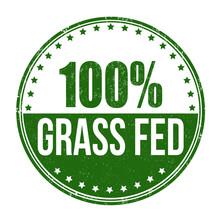 100 Percent Grass Fed Stamp