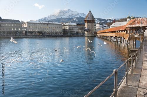 Photographie  Pont de Kapellbrücke, Lucerne - Suisse