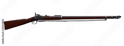 Photo Musket Springfield Trapdoor Rifle