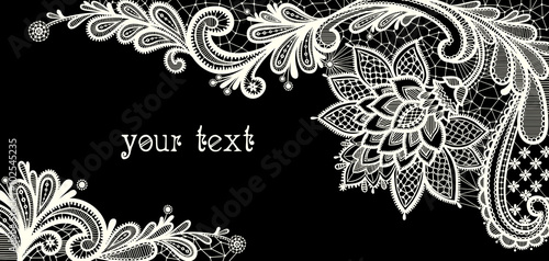 Floral Background Black And White Lace Vector Design Kaufen Sie