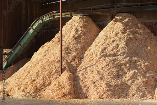 Fotografie, Obraz  Piles of sawdust