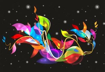 Fototapeta Abstrakcja kosmiczny kwiat,