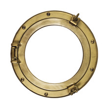 Brass Porthole Isolated With Clipping Path