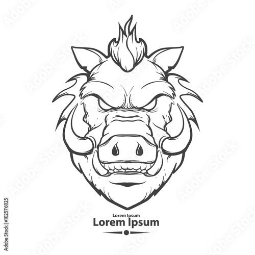 Fotografía boar head logo