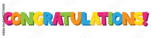 """CONGRATULATIONS"" Letter Banner Canvas-taulu"