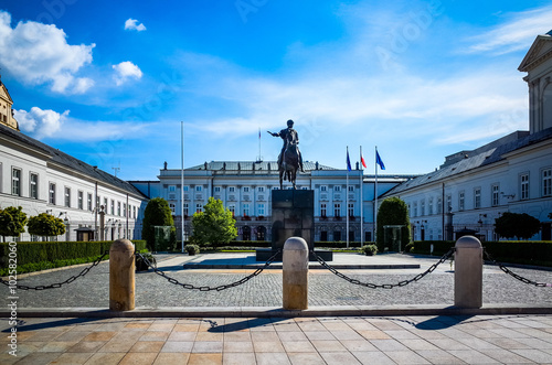 Obraz w ramie Street view of Central part of Warsaw